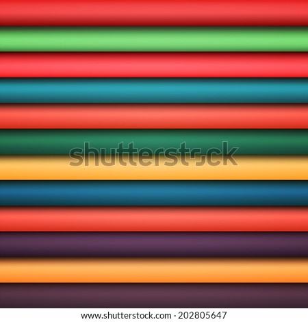 Abstract rainbow colorful lines - stock photo