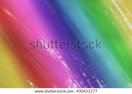 Abstract rainbow colors painting as a background - stock photo
