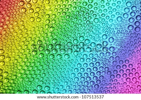 Abstract rainbow drops, can be used as background. - stock photo