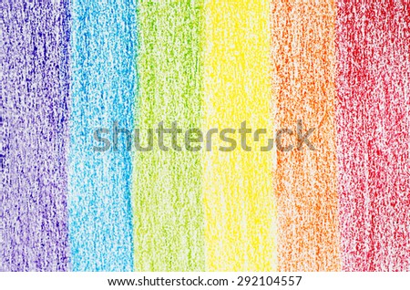 Abstract Rainbow Flag Color Pencil Painted on Paper Style Texture Background - stock photo