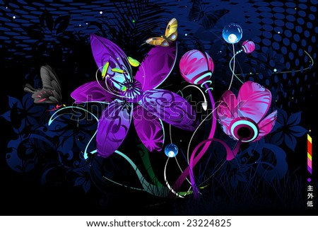 elements of glowing flowers - photo #17