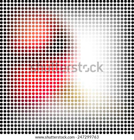 Abstract raster mosaic - stock photo