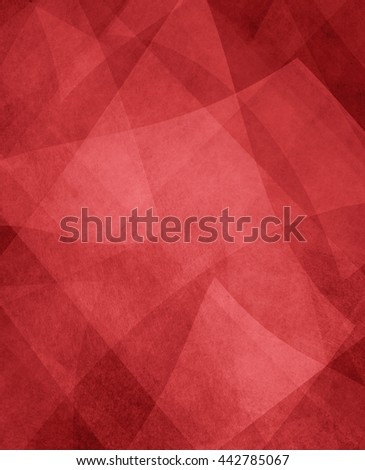 abstract red and white background, random textured rectangles squares and triangle shapes in geometric pattern of angles and layers, rich red background color - stock photo