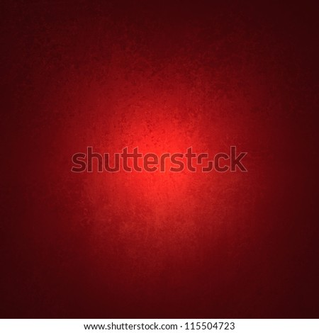abstract red background black vignette frame on border with vintage grunge background texture with old faded edges and center spotlight for elegant Christmas background or web template backdrop - stock photo