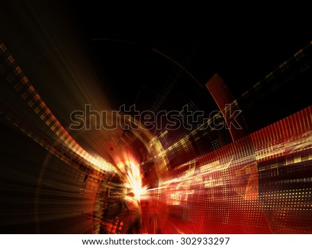 Abstract red background design. Detailed computer graphics. - stock photo