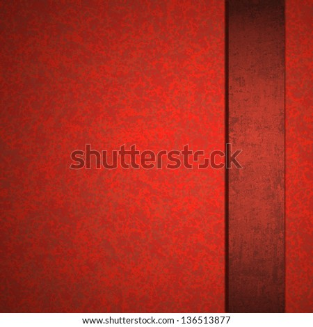 abstract red background luxury Christmas elegant layout with rich dark red color paper cool red ribbon, has copyspace vintage grunge background texture sponge detail for website template or brochure - stock photo