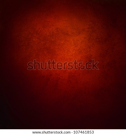 abstract red background, old black vignette border or frame, vintage grunge background texture design, warm red color tone for Christmas season, for brochures, paper or wallpaper, red wall - stock photo