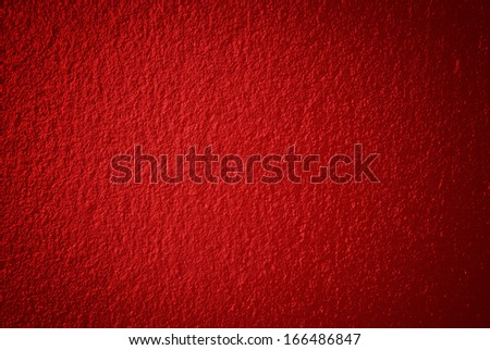 Abstract red background or Christmas wall with bright center  - stock photo