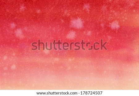 abstract red background watercolor paint on paper with streaks and water drops on gradient red and white watercolor wash for brochure or web background layout - stock photo