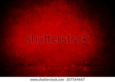 abstract red background with dark vignette frame, grunge layout  - stock photo