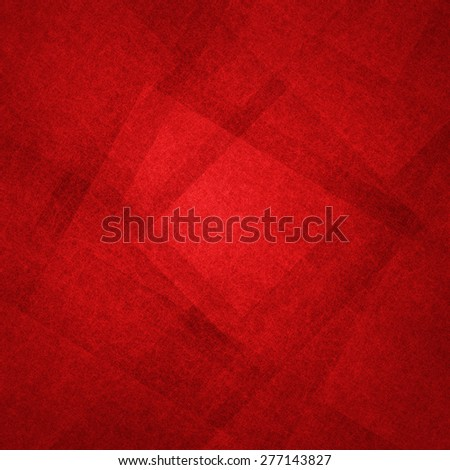 abstract red background with lines and triangles - stock photo