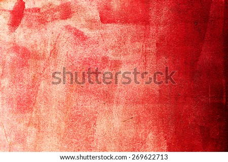 Abstract red concrete, weathered with cracks and scratches. Landscape style. Grungy Concrete Surface. Great background or texture. - stock photo