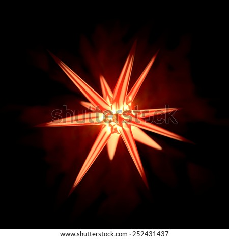 Abstract red crystal - stock photo