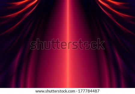 abstract red curtain - stock photo