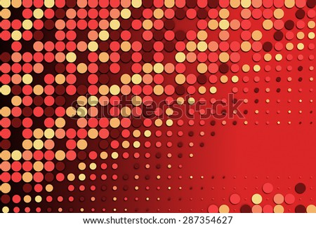 Abstract red dotted background, haltfone circle pattern illustration - stock photo