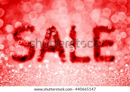Abstract red glitter sparkle discount sale background - stock photo