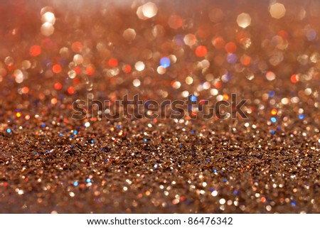 abstract red, gold and blue twinkled  background - stock photo