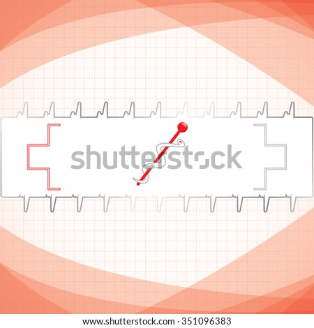 Abstract red grid medical background  - stock photo