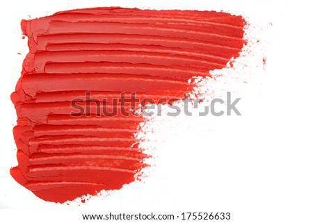 Abstract red oil paint texture - stock photo