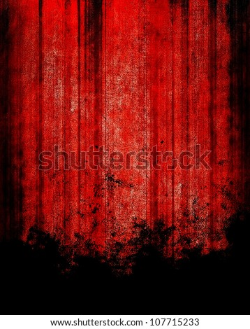abstract red paint - stock photo