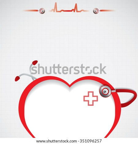 Abstract red silver grid medical background - stock photo