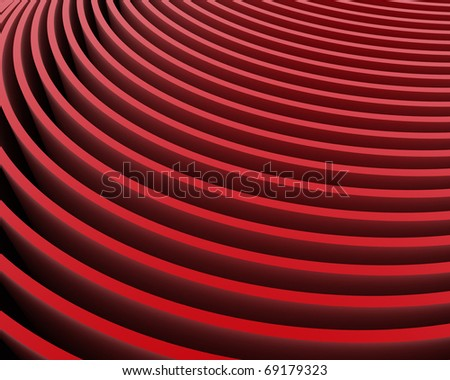 abstract red velvet rows - stock photo