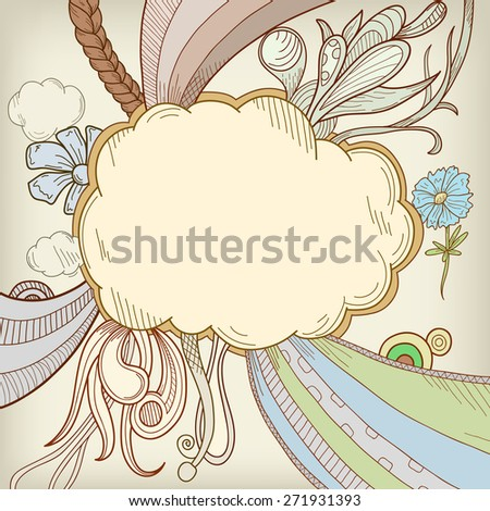 Abstract retro background pattern frame cloudscape. - stock photo