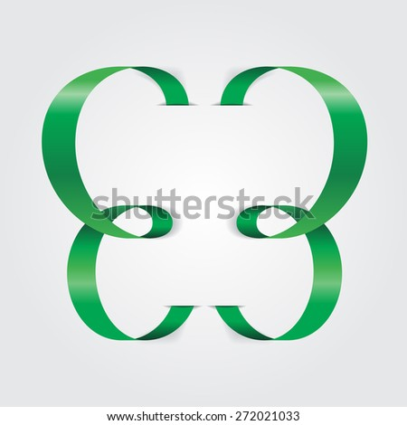 Abstract ribbon butterfly. Raster version - stock photo