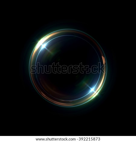 Abstract ring background with luminous swirling backdrop. Glowing spiral. The energy flow tunnel. shine round frame with light circles light effect. glowing cover. Space for your message. Photo lense  - stock photo