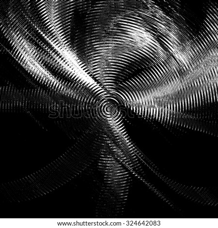 Abstract ripple in water with concentric circles. Monochrome illustration background - stock photo