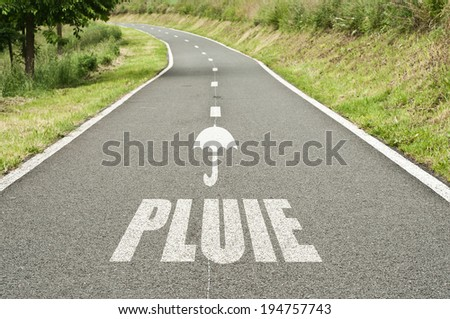 abstract road background by rain - stock photo
