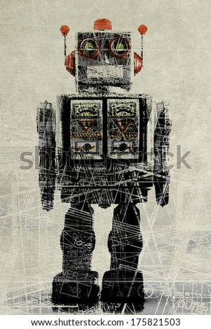 abstract robot concept - stock photo