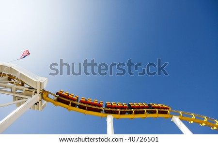 abstract roller coaster crop - stock photo