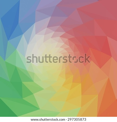 abstract rumpled circle background texture, low poly style - stock photo
