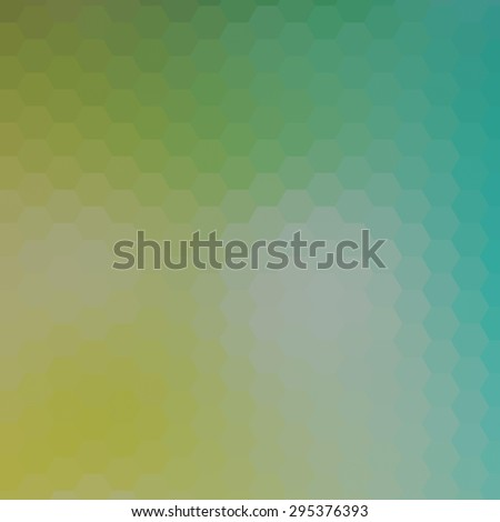 abstract rumpled hexagon background, low poly style - stock photo