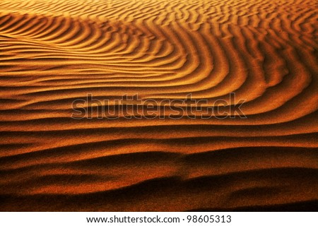Abstract sand pattern in Thar Desert, India - stock photo