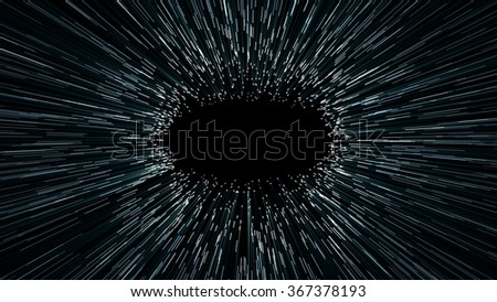 abstract scene of flight in space, space traveling, time machine - stock photo