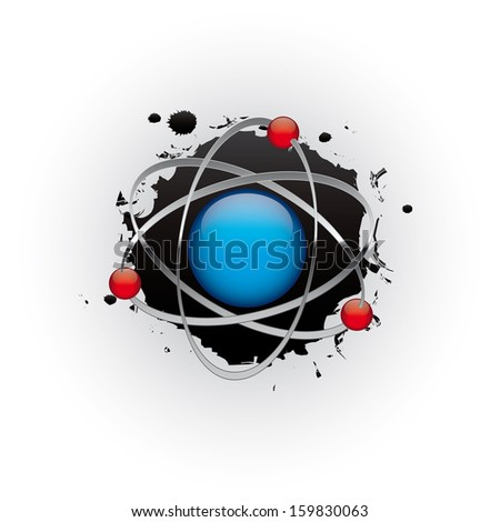 Abstract sci-fi planet in space - raster version of vector ID 142118191 - stock photo