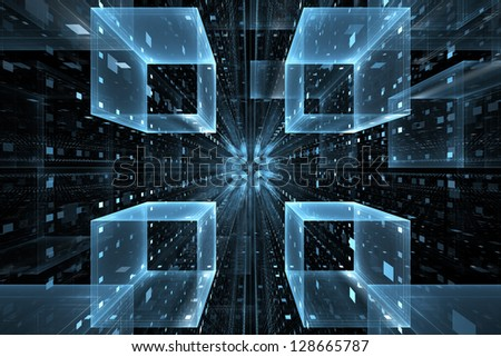 Abstract science or technology background - stock photo
