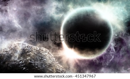 Abstract scientific background of Universe scene in outer space - stock photo