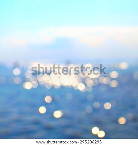 Abstract sea view in sunny morning day - stock photo
