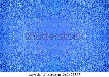 Abstract sea water textured background in old grunge style. Blue and cyan color oil paints background. - stock photo