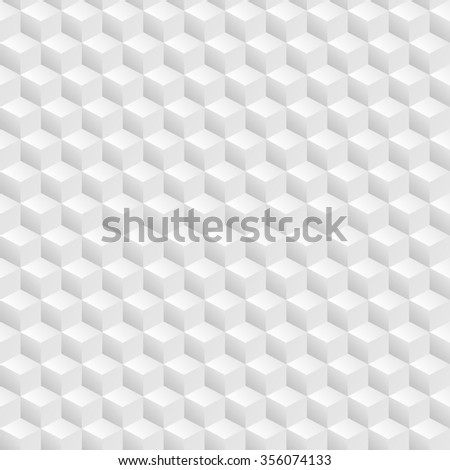 Abstract seamless 3D white cubes background. art - stock photo