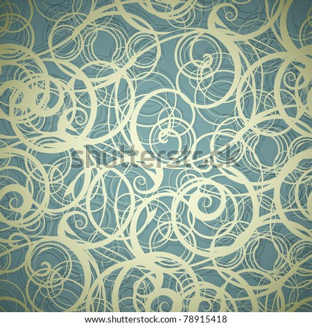 Abstract seamless floral background illustration - stock photo