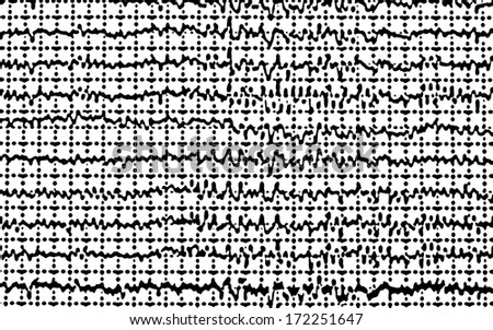 Abstract seamless geometric graphic pattern, Concept graph brain wave EEG - stock photo