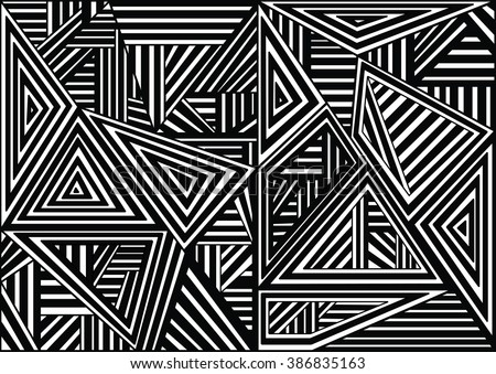 Abstract Seamless geometrical pattern. Colorful endless texture with stylized linear,template for design and decoration beautiful. - stock photo