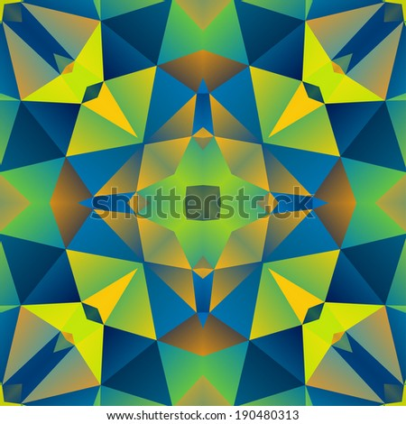 Abstract Seamless Multicolored Triangle Background,  Raster Version - stock photo