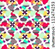Abstract seamless pattern (raster version) - stock photo