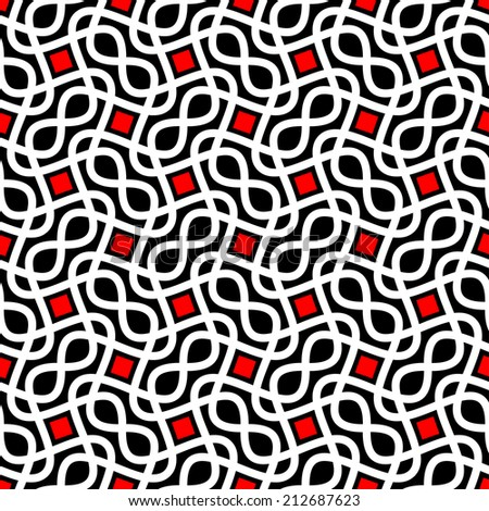 Abstract seamless pattern raster version - stock photo