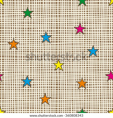 Abstract seamless pattern wallpaper background. Raster version - stock photo